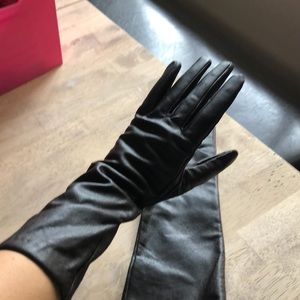 Long brown leather gloves, never been worn